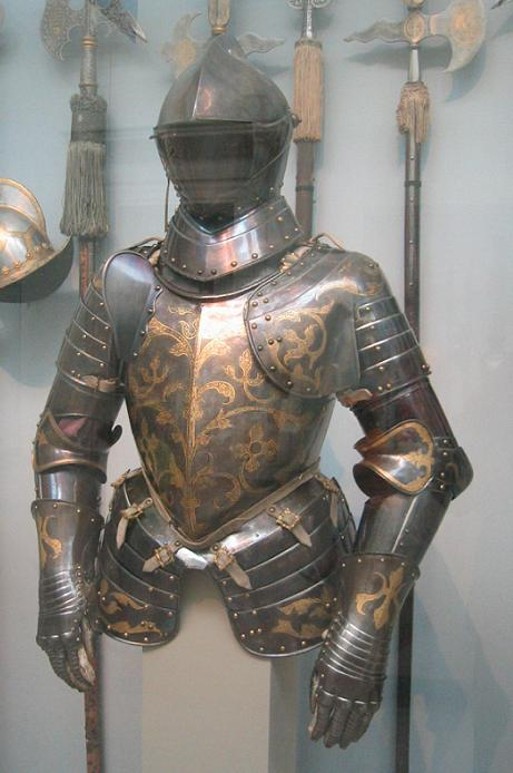 Foot combat armor of prince elector christian i of saxony for Armor decoration